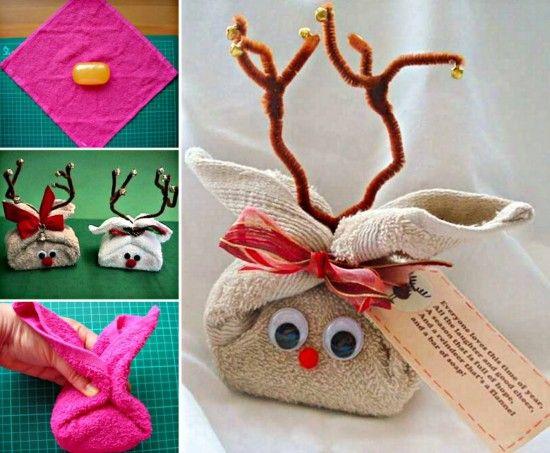Reindeer Washcloths Gift Idea The WHOot