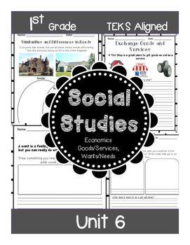 1st Grade - Social Studies - Unit 6 - Economics, Goods/Services, Wants/Needs