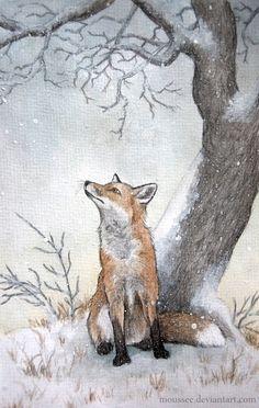 ray shuell art   fox beauty http://johnpirilloauthor.blogspot.com/