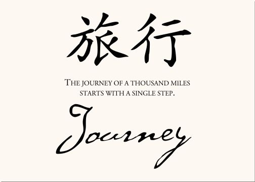Journey Of Thousand Miles Starts With A Single Step. #Quotes #Proverbs #Inspiration