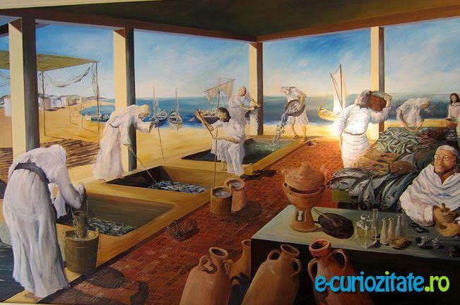 Fabricarea sosul de peste Garum, condimentul principal din Imperiul Roman