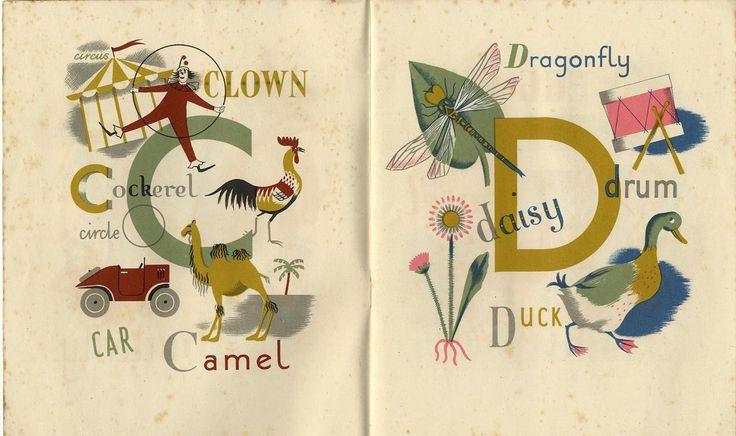 grace gabler alphabet   Grace Gabler, the Alphabet of Illustrators 1945