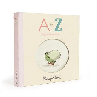 A TO Z RAG BOOK - $18.95 - Perfect for teaching a child the basics of the alphabet this beautiful Rag Book is both original & educational. Each letter is represented by an object relevant to that letter and also added a little text underneath. #sweetcreations #shoptheblog #book #gifts #reading #ragtales