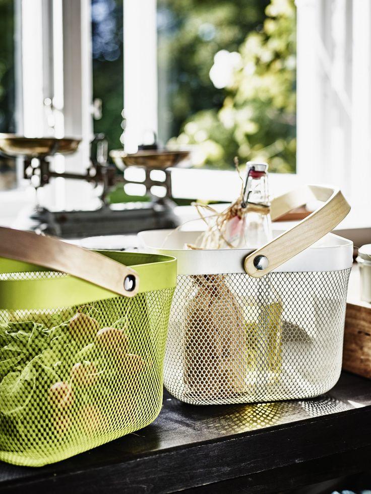 Χρησιμοποιήστε τα καλάθια RISATORP για να αποθηκεύσετε τα φρούτα και τα λαχανικά σας!