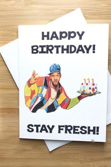 Yea Oh Greetings Fresh Prince of Bel Air - Stay Fresh Card