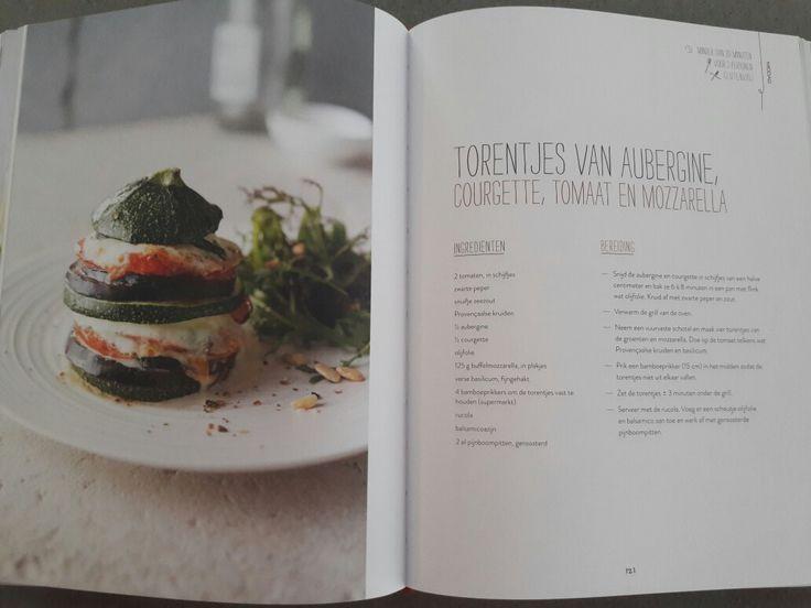 Torentjes van aubergine, courgette, tomaat en mozzarella - Nooit meer diëten