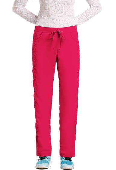 """KD110 by Barco Uniforms Women's """"Kayla"""" Scrub Pant  8201. Junior Fit.5 Pockets Mid-rise.2 front side slit pockets and mini pocket.2 back patch pockets.Straight leg style Shirred side panels.Elastic Back/Drawstring Front.Back knee seaming.Side vents at hemline.Regular length: 31.5"""" Sizes: XXS-5XL.Petite: 29.5"""" Sizes: XXS-XL.Tall: 33.5"""" inseam Sizes: XXS-XL.50% Polyester/50% Recycled Polyester. Buy Now: http://www.nationalscrubs.com/KD110-Barco-Uniforms-Straight-Elastic-Back-Pant-p/bc8201.htm"""