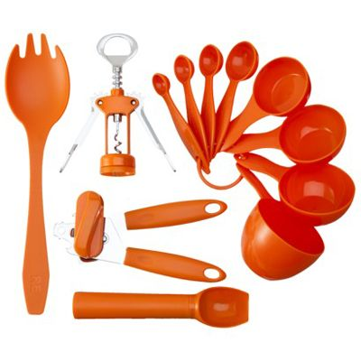 12 Piece Orange Kitchen Tool Set