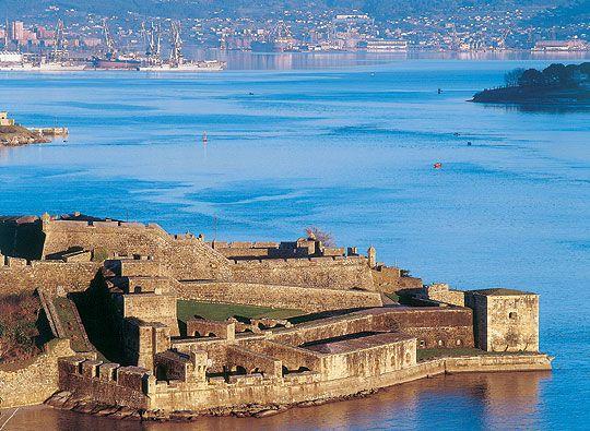 Castillo de San Felipe en el Puerto de Ferrol