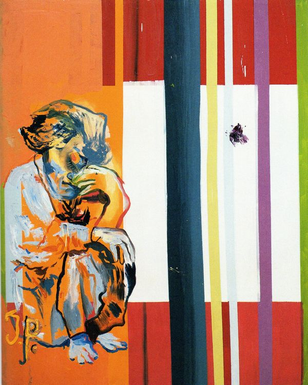 MARTIN KIPPENBERGER (German, 1953-1997), Ohne Titel (Jacqueline The Painting Pablo Picasso Couldn't Paint Anymore),1996, Oil on canvas, 180 x 150 cm.