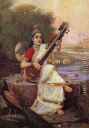 Goddess Saraswathi  by Raja Ravi Varma