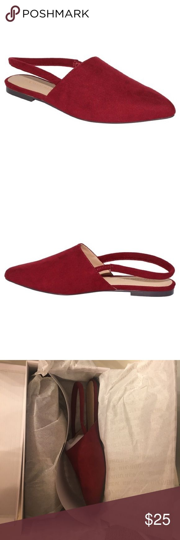 Who What Wear Kat Microsuade Slingback Flats 7.5 Brand new never worn. Size 7.5 Who What Wear Shoes Flats & Loafers