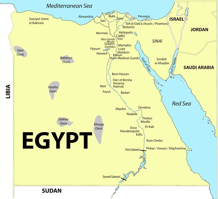 Nubian Desert Physical Map