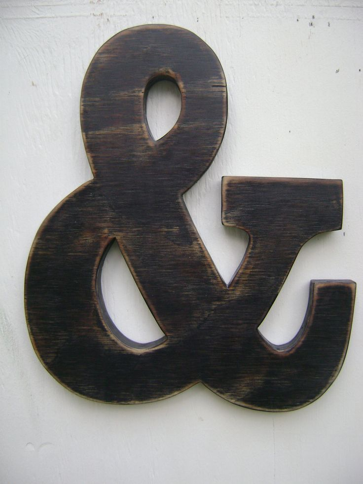 Ampersand and sign rustic wedding,shabby chic decor