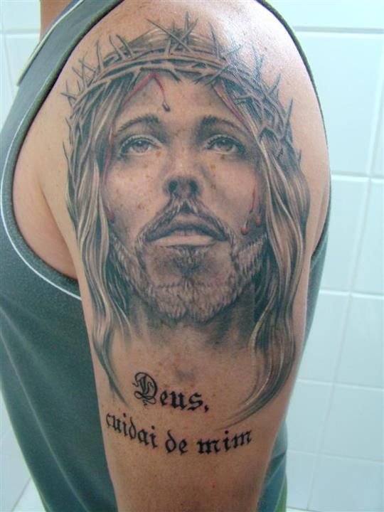 Cristo tattoo jesus arm tattoo jesus jesus arm body painting