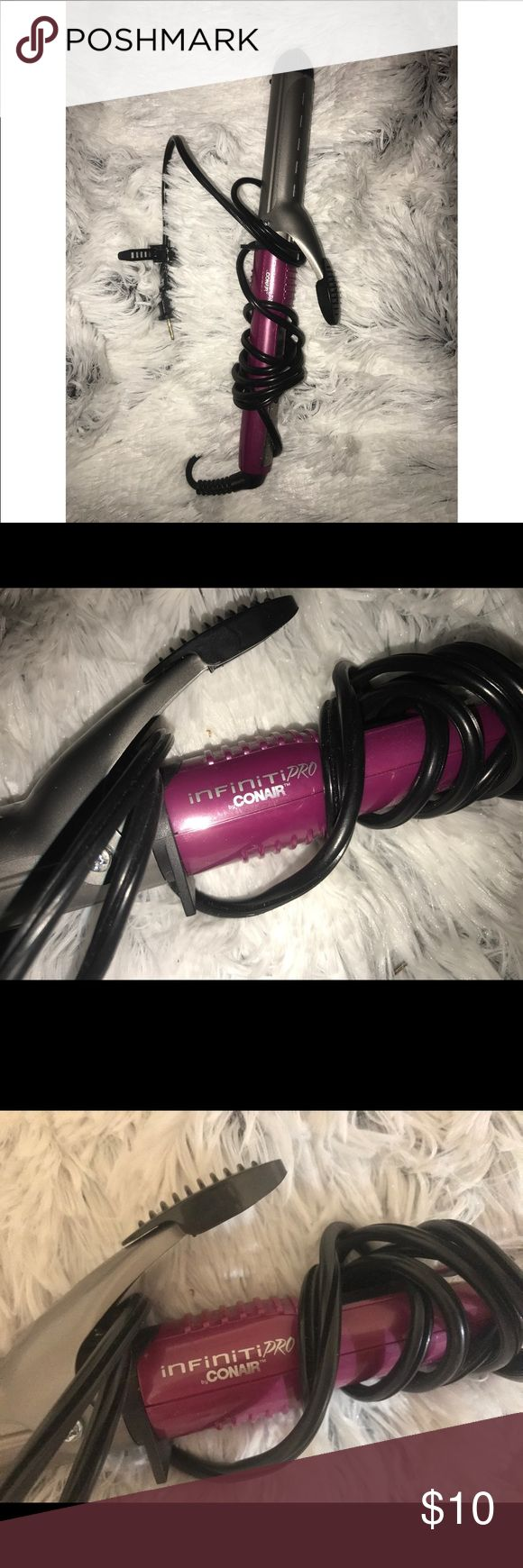 INFINITY PRO CONAIR CURLING IRON This is about 1.25 inches Rarely used and cleaned Long cord conair Other