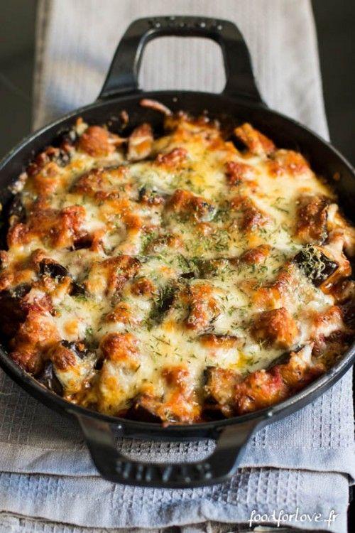gratin aubergines mozza-
