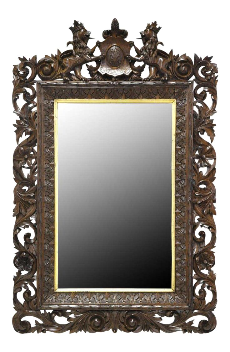 57 best take a look in the mirror images on pinterest antlers 19th century german carved black forest walnut mirror amipublicfo Images