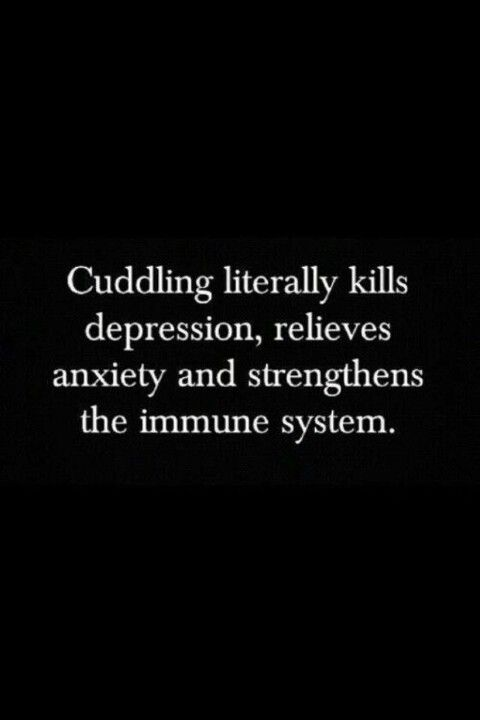 Thus no matter how mad we are with each other, Hubby and I always cuddle soon…