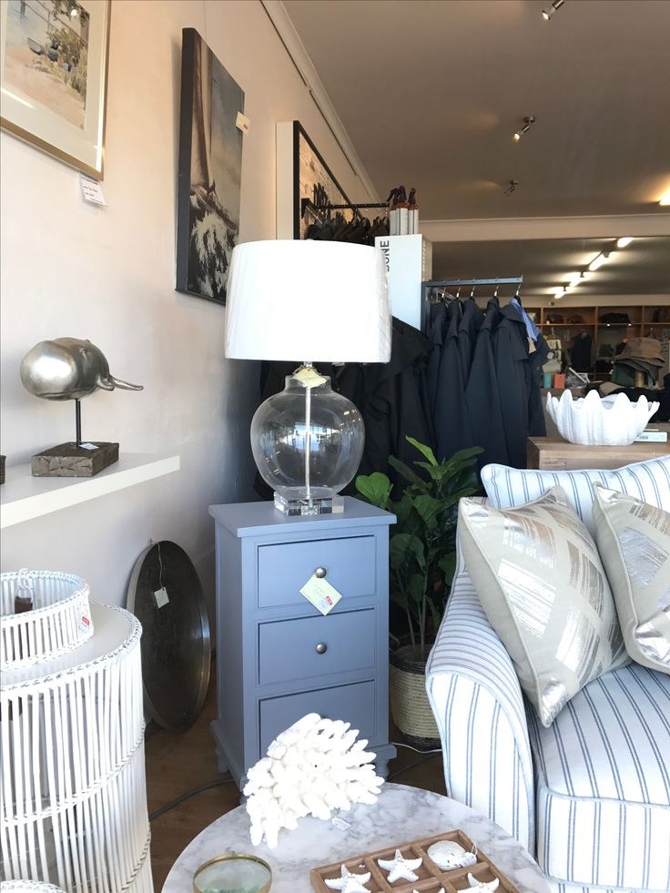Love this blue grey bedside table I saw in a store in merimbula, Australia