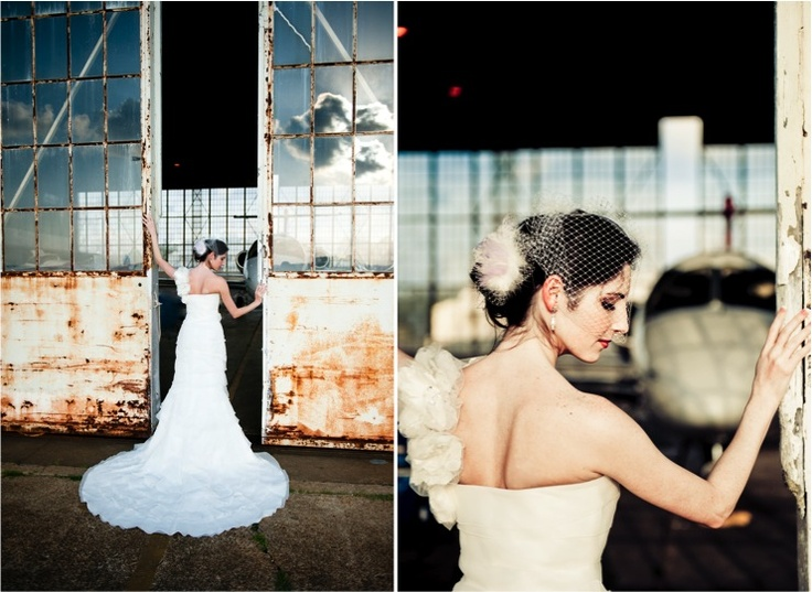 Airport Bridal Session