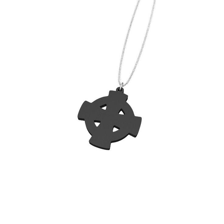 Black Celtic Cross by Elena Indolfi #Zazzy