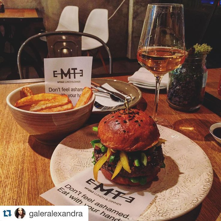 Bacon JAM BURGER, Fries and Wine!! EMTE Gourmet Burger. Bucharest Romania