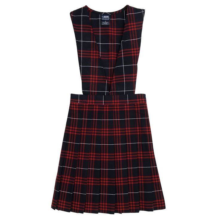 Girls 4-20 & Plus Size French Toast School Uniform Plaid Pleated Jumper, Size: 12 Plus, Blue Other