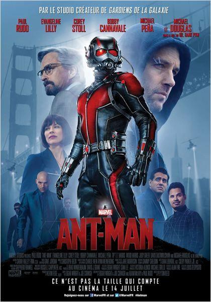 ANT-MAN. Scott Lang, cambrioleur de haut vol, va devoir apprendre à se comporter en héros et aider son mentor, le Dr Hank Pym, à protéger le secret de son spectaculaire costume d'Ant-Man, afin d'affronter une effroyable menace…