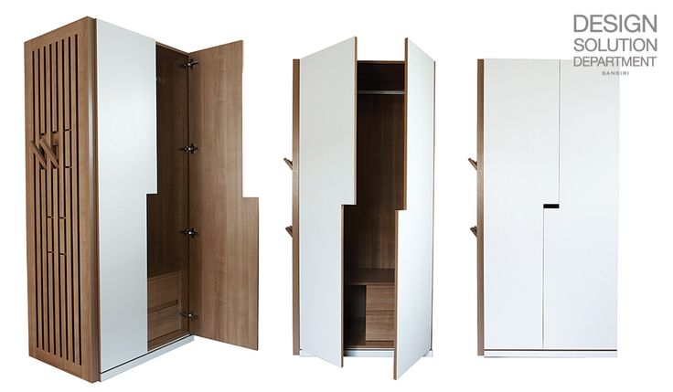 """WARDROBE 01 from """"Sansiri Modernform Collection"""" -a closet with hangers on the side for your clothes, bags, and accessories. (Design Excellence Award 2012 (DEmark))"""