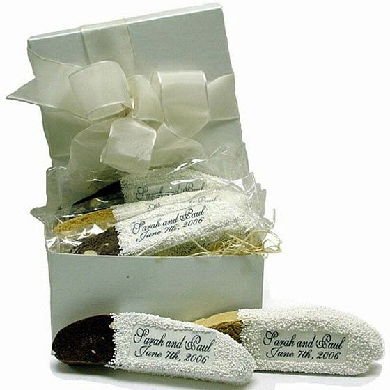 Biscotti Favors Chocolate Dipped Personalized Italian Themed Weddingsitalian