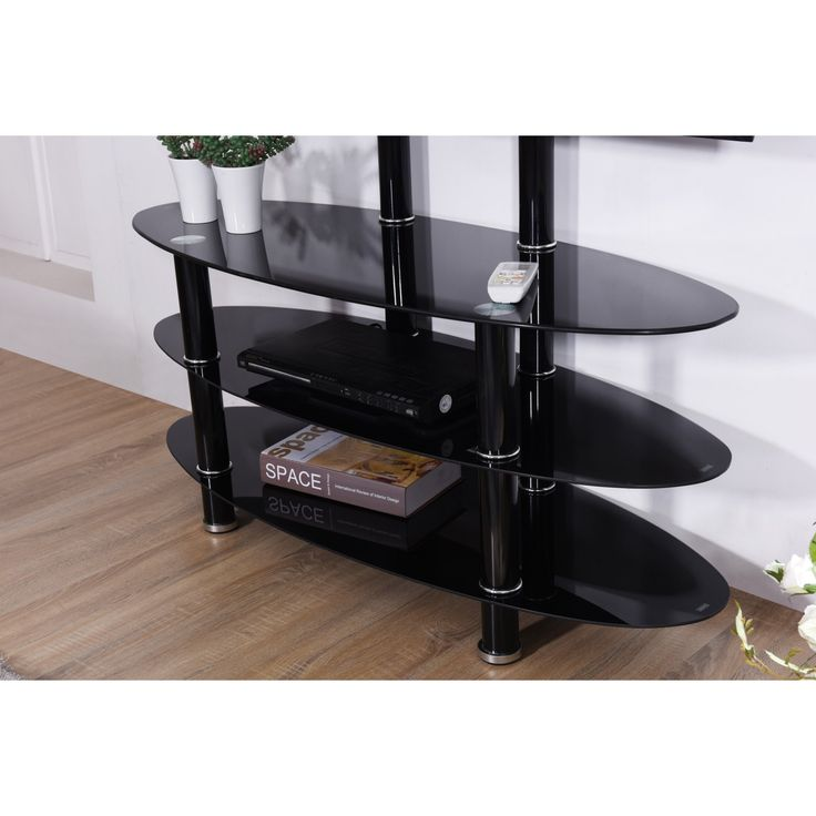 Hodedah Imports 43 in. Oval TV Stand with Mount - HITV2501