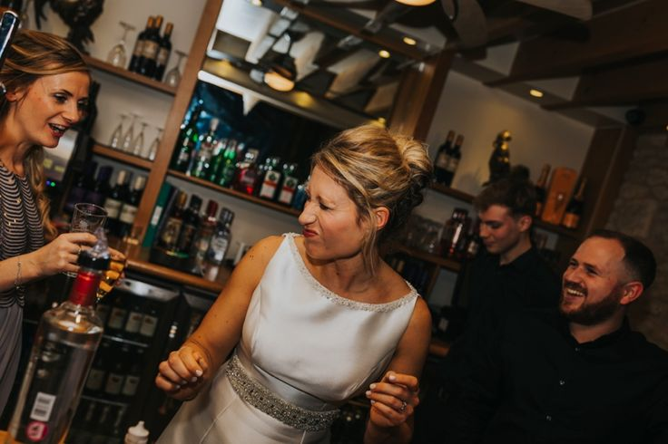 That post shot grimace. Photo by Benjamin Stuart Photography #weddingphotography #shots #bride #party #drinking #weddingfun #behindthebar