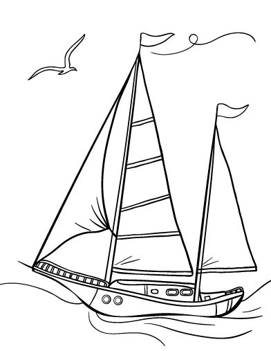 Printable sailboat coloring page. Free PDF download at ...