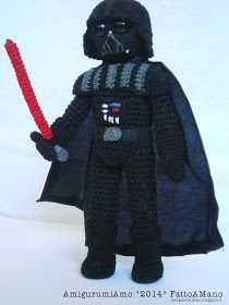 Darth Vader Star Wars Amigurumi - Free Italian and English Pattern (Scroll Down)