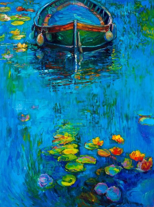 Boats in Water from $39.99  | www.wallartprints.com.au #ImpressionistArt  #WallArtPrints