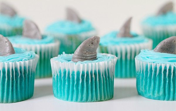 This cupcake is for the Shark lover! Easy, delicious, and really fun to do!