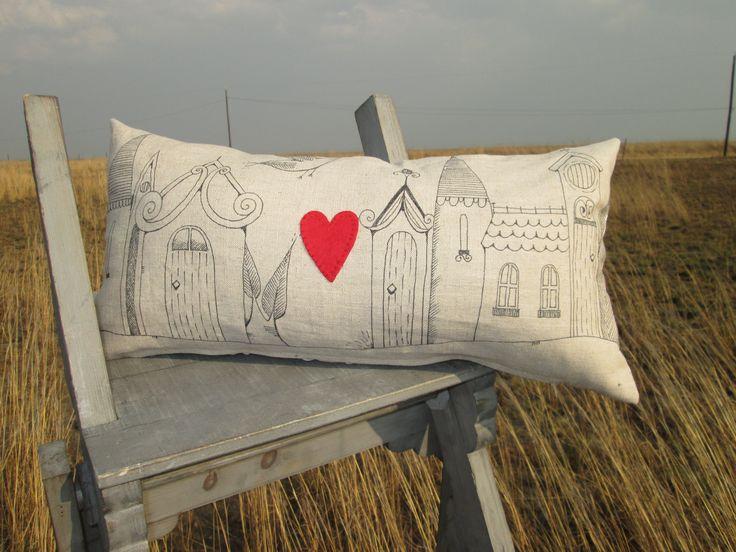 Little town Cushion