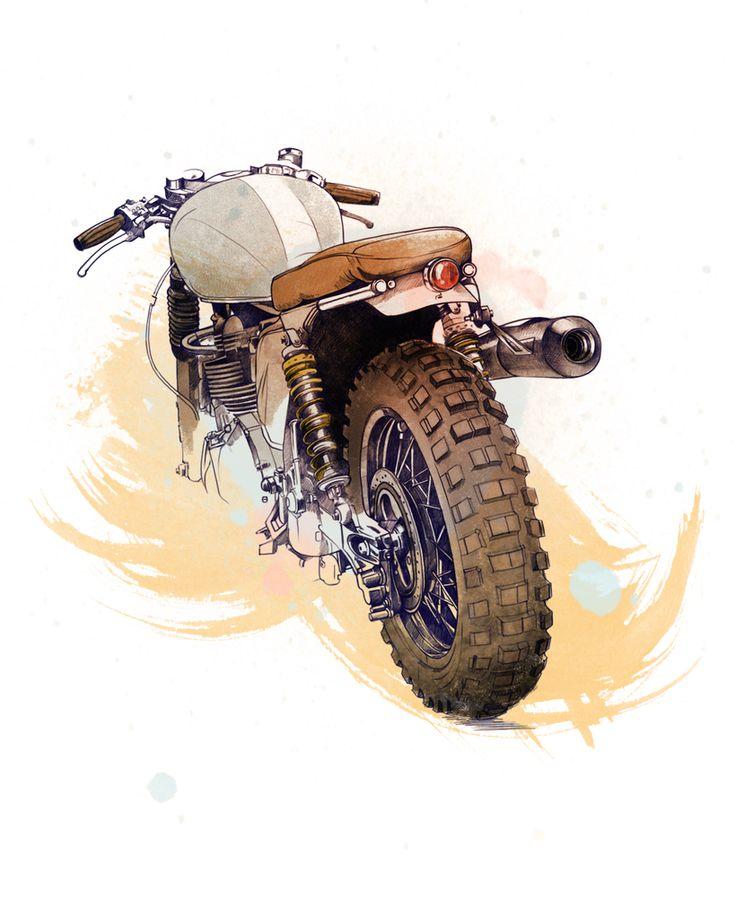 Cafe Racer Bikes by Oscar Llorens