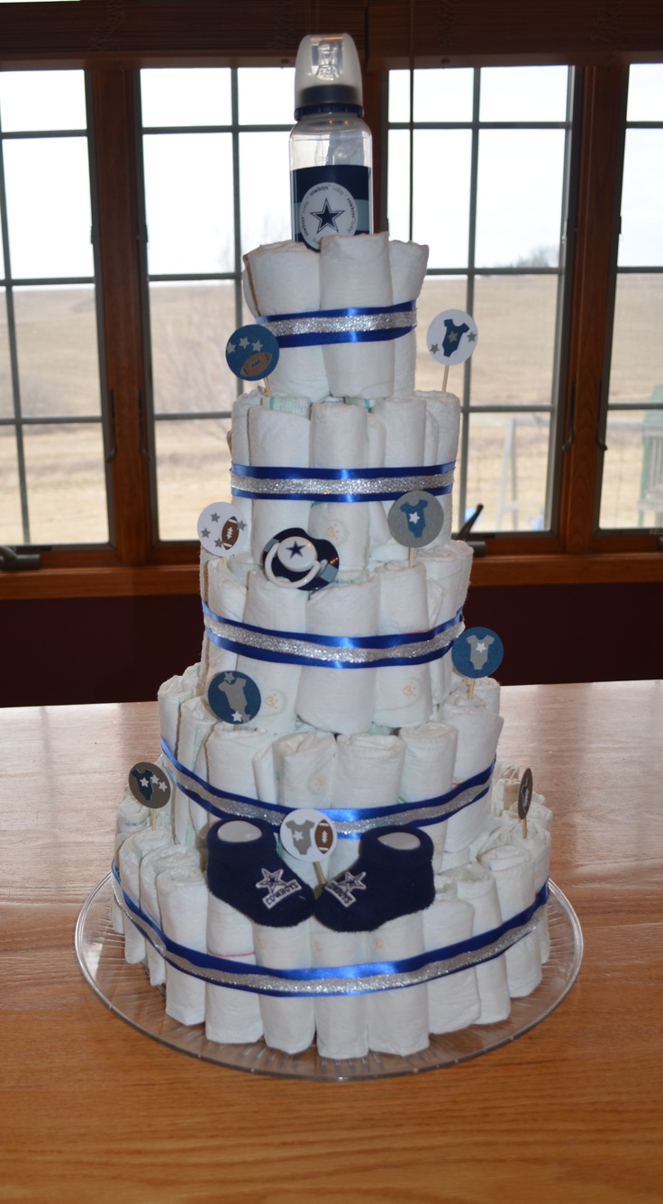 dallas cowboys diaper cake awesome for a shower gift