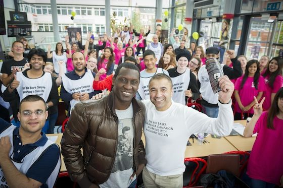 A record 1,000 people have been recruited to the UK stem cell register in just one day thanks to an amazing campaign partly run by DMU's Square Mile Project and supported by Emile Heskey.