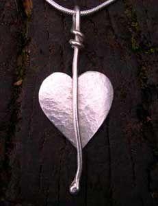 Handmade silver heart pendant http://www.silverandstone.co.uk/html/heart_pendant_07.html