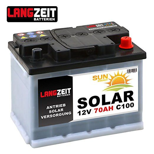 Solarbatterie 70Ah 12V Wohnmobil Boot Camping Schiff Rollstuhl REHA Batterie Solar 60Ah: Amazon.de: Elektronik