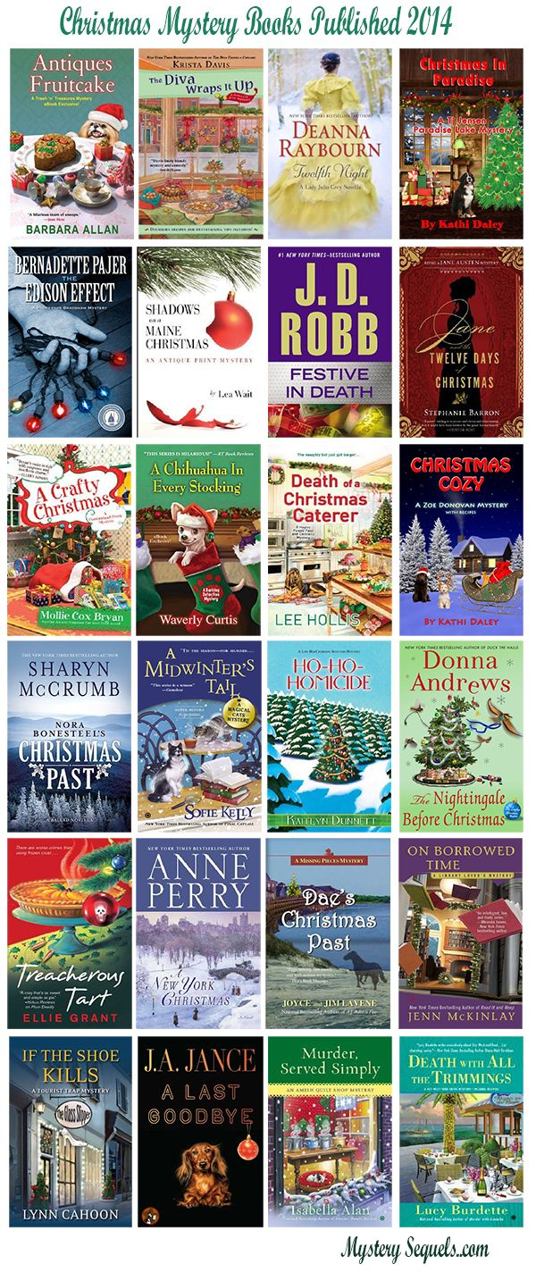 Christmas mystery books published in 2014 - lots of fun cozies in this list
