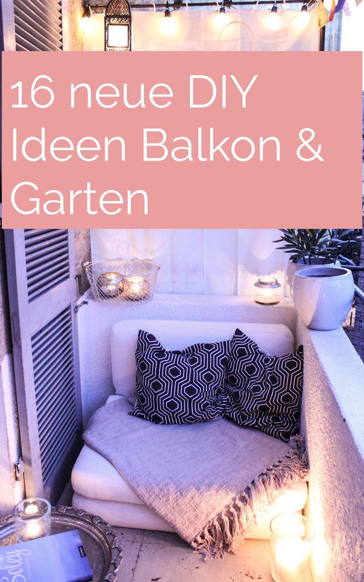 diynstag 16 kreativ ideen f r balkon und terrasse garten drau en pinterest balkon balkon. Black Bedroom Furniture Sets. Home Design Ideas