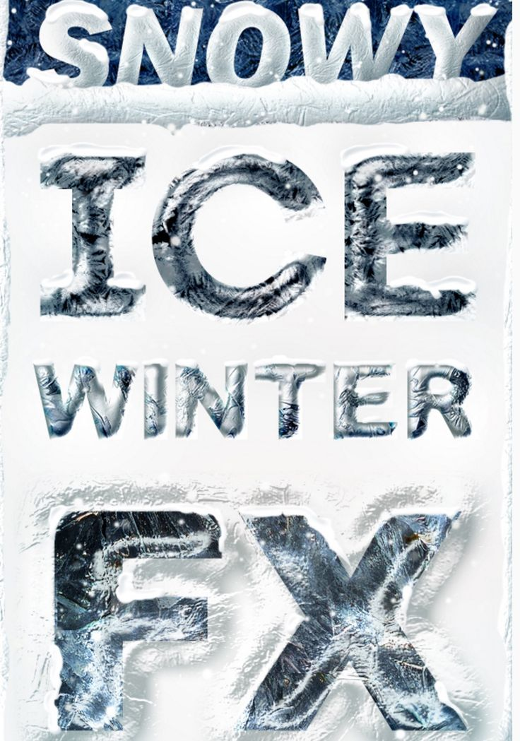 Ice Winter #Photoshop Layer Styles - Frozen Text Effect