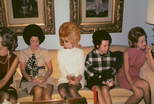 This reminds me of my mother and her friends...yes that would have been my mom in the middle..stylin it!!