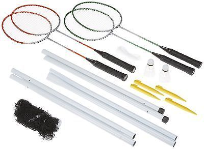 Four #player outdoor garden #badminton set rackets net posts & #shuttlecocks ty99,  View more on the LINK: http://www.zeppy.io/product/gb/2/351139723487/