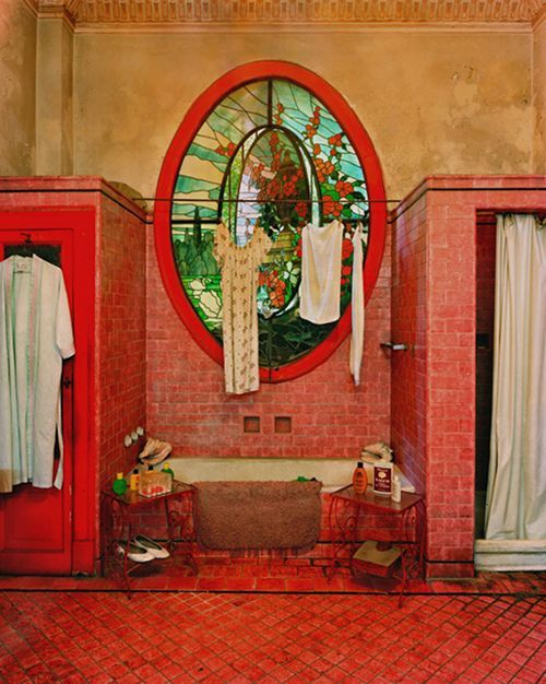 cool bathroomModern Bathroom Design, Rustic Bathroom, Interiors Design, Red Bathroom, Havana Cuba, Classic Architecture, Stained Glass, Design Bathroom, Michael Eastman