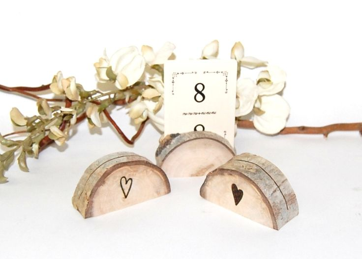 Wood Place Card Holders - Reclaimed AsPen - Rustic Wedding Name Card Holder - Outdoor Mountain Woodland Shabby Chic  - Western - Rustic. $1.75, via Etsy.